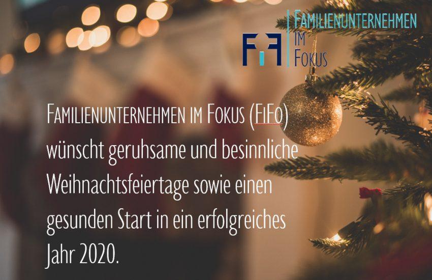 Frohe Weihnachten wünscht Familienunternehmen im Fokus